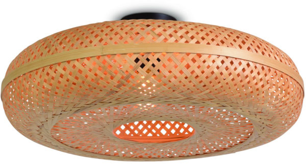 Plafonniere Palawan bamboe 60x15cm naturel, L Good & Mojo Plafondlamp PALAWAN/C/6015/N