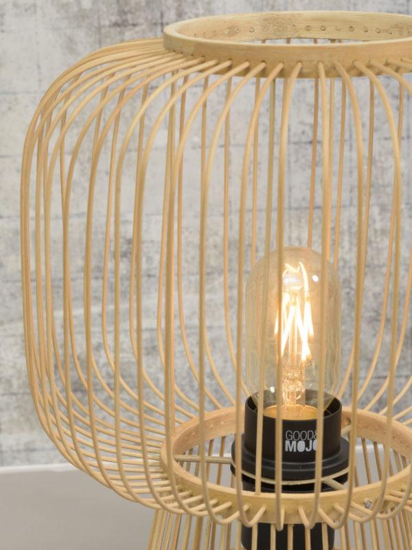 Tafellamp Cango bamboe h.30x26cm, naturel Good & Mojo Tafellamp CANGO/T30/N
