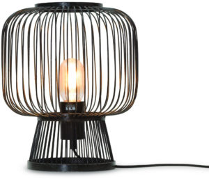 Tafellamp Cango bamboe h.30x26cm, zwart Good & Mojo Tafellamp CANGO/T30/B