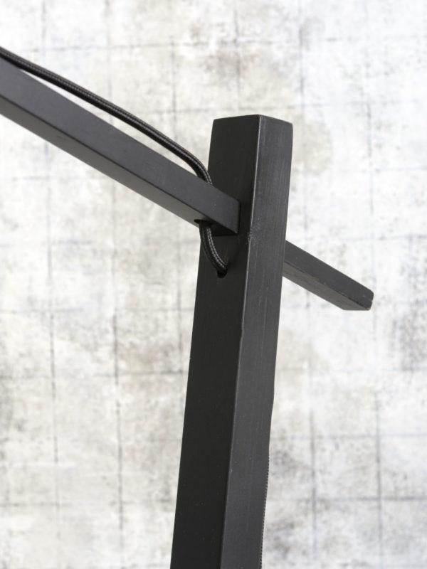 Vloerlamp Andes bamboe zw. h.176cm/kap 47x23cm ecolin. d.linnen Good & Mojo Vloerlamp ANDES/F/B/4723/LD