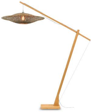 Vloerlamp Bali bamboe nat. h.207cm/kap 87x20cm zw./nat.L Good & Mojo Vloerlamp BALI/F/MB/8720/BN