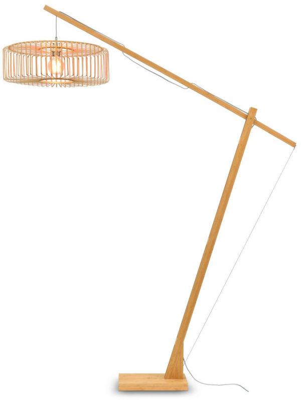 Vloerlamp Bromo bamboe nat.h.207cm/kap 60x18cm nat., L Good & Mojo Vloerlamp BROMO/F/MB/6018/N