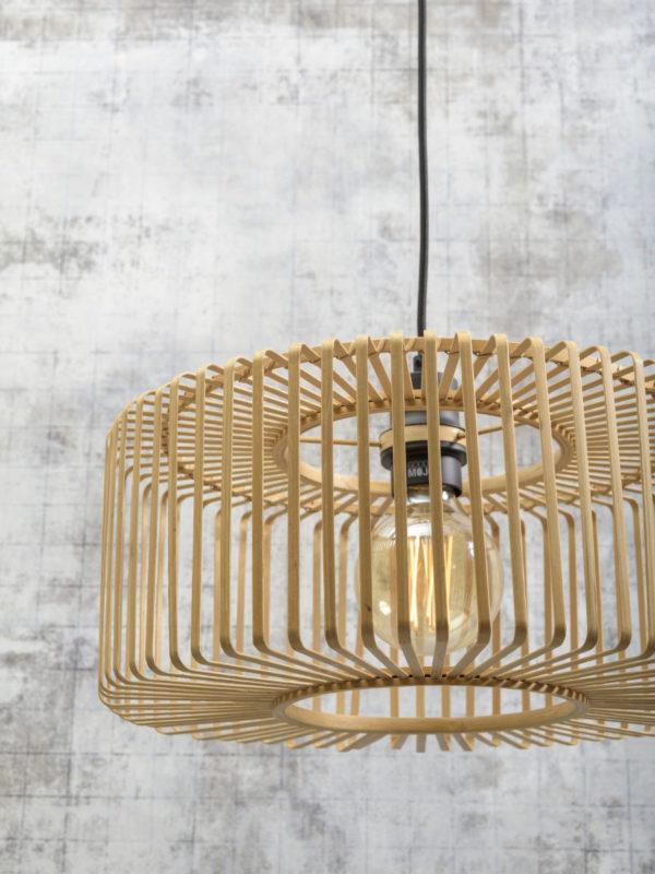 Vloerlamp Bromo bamboe zw. h.176cm/kap 40x18cm nat. S Good & Mojo Vloerlamp BROMO/F/AD/B/4018/N