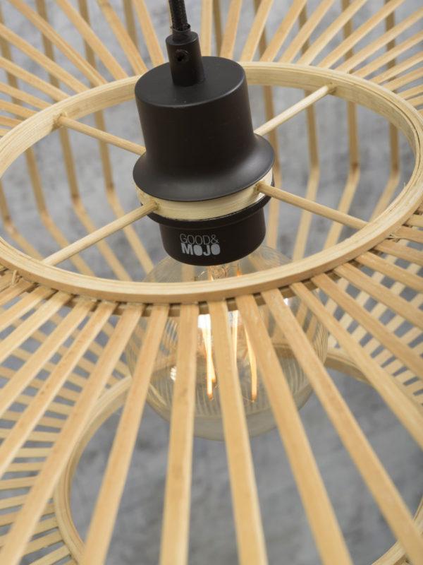 Vloerlamp Bromo bamboe zw. h.176cm/kap 60x18cm nat. L Good & Mojo Vloerlamp BROMO/F/AD/B/6018/N