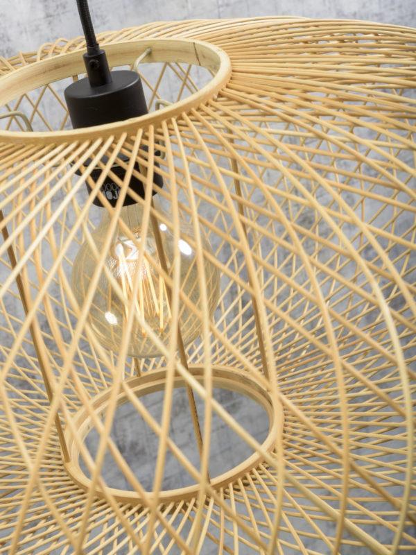 Vloerlamp Cango bamboe nat.h.207cm/kap 60x25cm, naturel Good & Mojo Vloerlamp CANGO/F/MB/6025/N