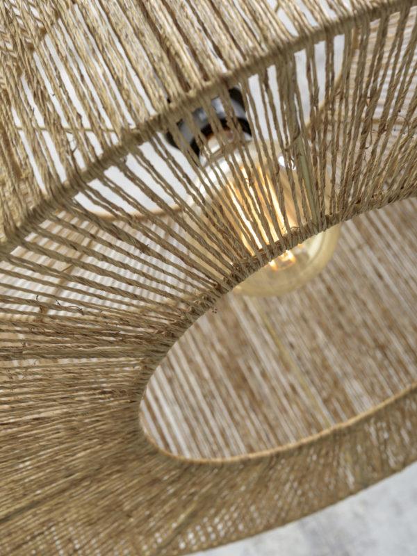 Vloerlamp Iguazu bamboe/jute naturel h.176cm/kap 50x22cm naturel S Good & Mojo Vloerlamp IGUAZU/F/AD/N/5022/N