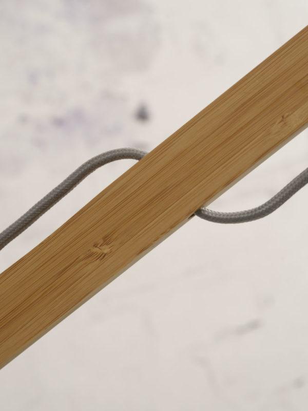 Vloerlamp Montblanc bamboe h.207/kap 60x30cm eco linnen, donker Good & Mojo Vloerlamp MONTBLANC/F/6030/LD