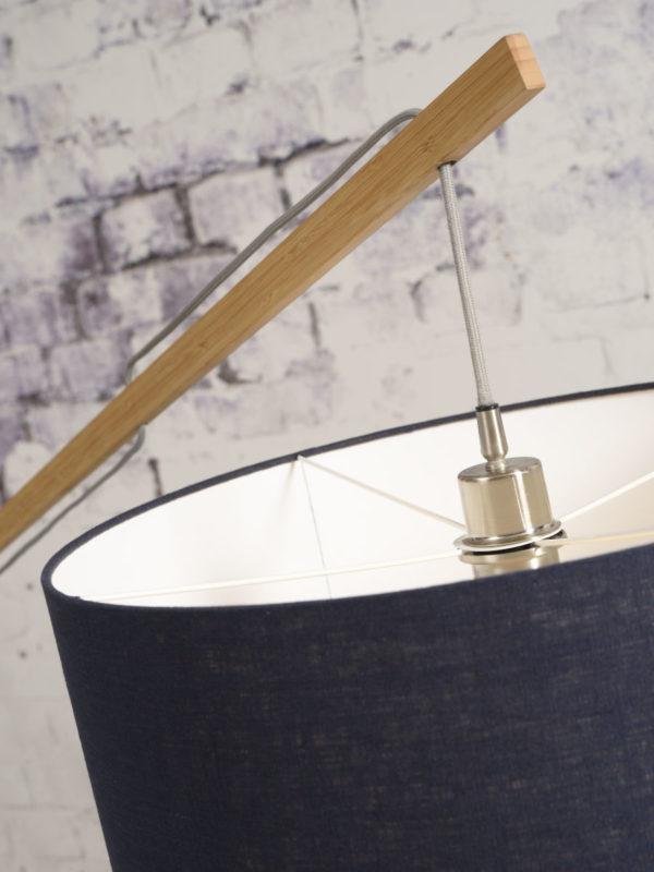 Vloerlamp Montblanc bamboe h.207/kap 60x30cm  eco linnen, donkergrijs Good & Mojo Vloerlamp MONTBLANC/F/6030/DG
