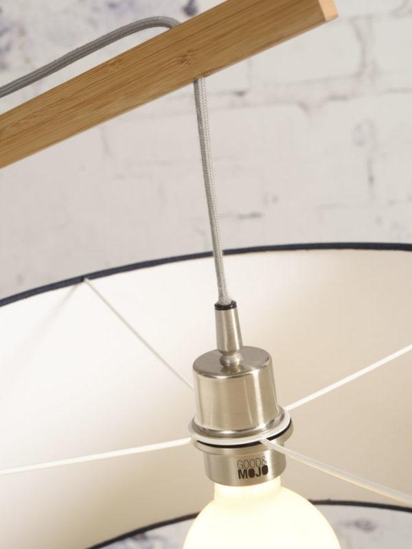 Vloerlamp Montblanc bamboe h.207/kap 60x30cm eco linnen, licht Good & Mojo Vloerlamp MONTBLANC/F/6030/LL
