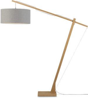 Vloerlamp Montblanc bamboe h.207/kap 60x30cm eco linnen, lichtgrijs Good & Mojo Vloerlamp MONTBLANC/F/6030/LG