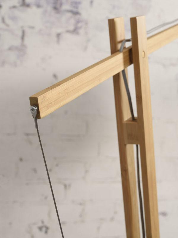 Vloerlamp Palawan bamboe h.207cm/kap 60x15cm nat/wit Good & Mojo Vloerlamp PALAWAN/F/MB/6015/WN