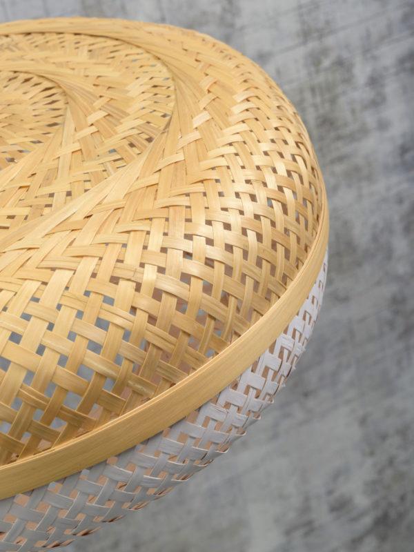 Vloerlamp Palawan bamboe nat. h.176cm/kap 60x15cm nat/wit Good & Mojo Vloerlamp PALAWAN/F/AD/N/6015/WN