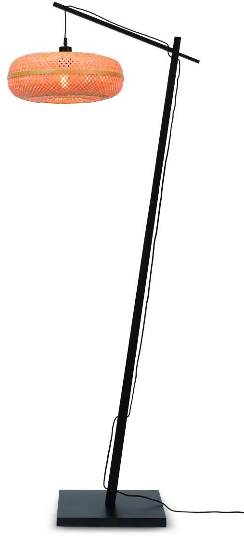 Vloerlamp Palawan bamboe zw.h.176cm/kap 40x15cm naturel Good & Mojo Vloerlamp PALAWAN/F/AD/B/4015/N