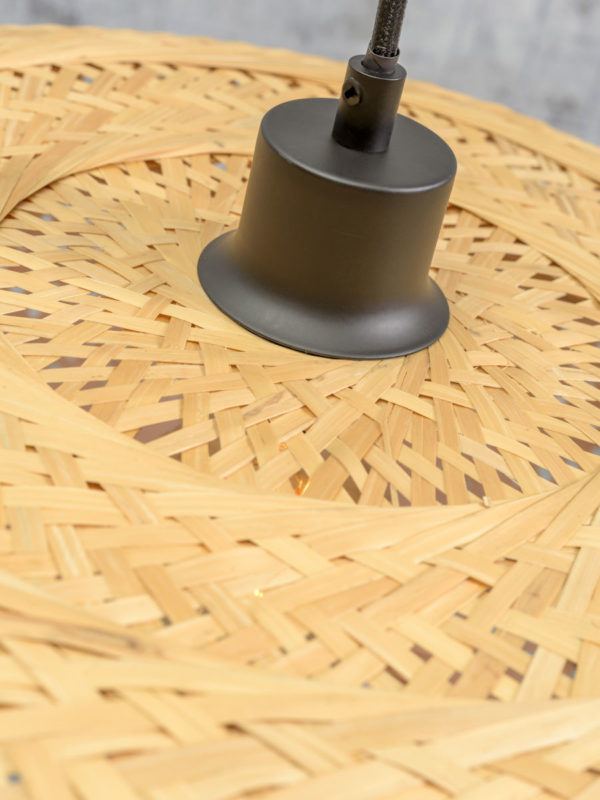Vloerlamp Palawan bamboe zw.h.176cm/kap 40x15cm nat/wit Good & Mojo Vloerlamp PALAWAN/F/AD/B/4015/WN