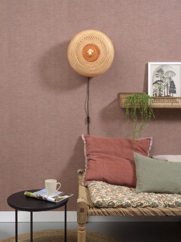 Wandlamp Palawan bamboe 40x15cm naturel, S Good & Mojo Wandlamp PALAWAN/W/4015/N