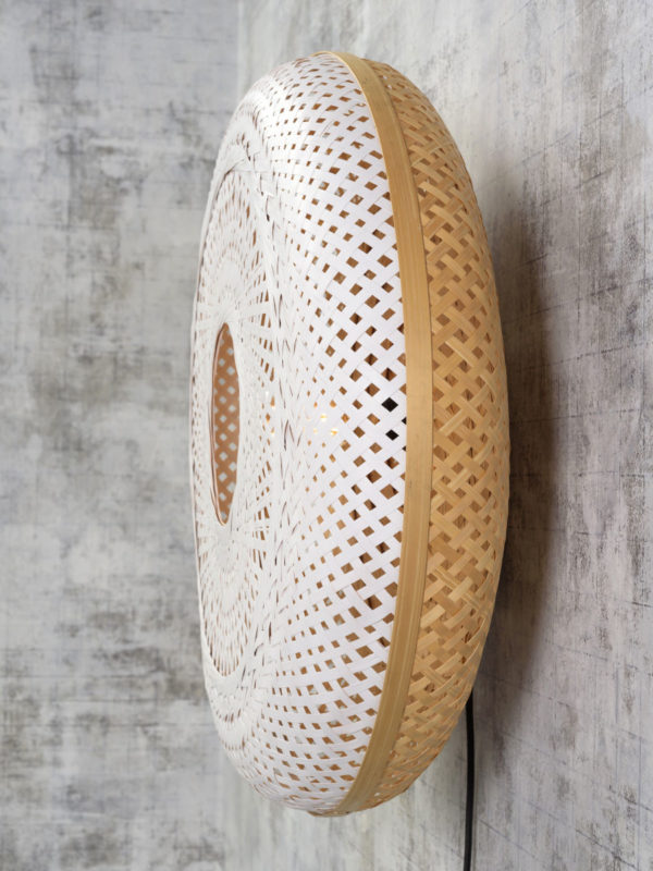 Wandlamp Palawan bamboe 60x15cm nat./wit, L Good & Mojo Wandlamp PALAWAN/W/6015/WN