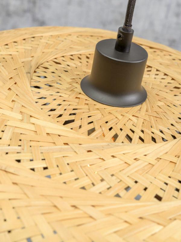 Wandlamp Palawan bamboe zw./kap 40x15cm naturel, L Good & Mojo Wandlamp PALAWAN/W3/AD/B/4015/N