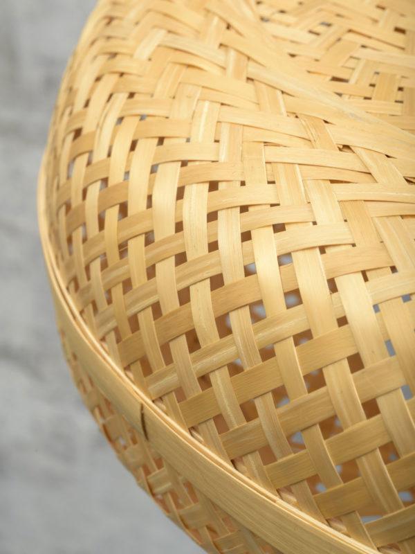 Wandlamp Palawan bamboe zw./kap 40x15cm naturel, S Good & Mojo Wandlamp PALAWAN/W2/AD/B/4015/N