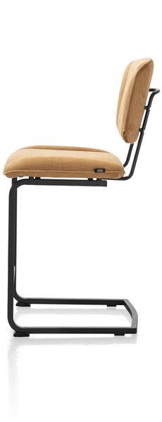 Henders & Hazel Lucy barstoel swing frame vierkant - stof maison - okergeel  Eetkamerstoel