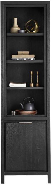 IN.House Boekenkast Lentaro eikenhout zwart  Boekenkast