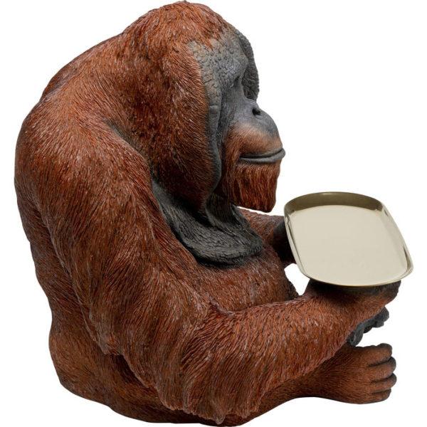 Beeld Figurine Orang Utan Butler 24cm Kare Design Beeld 53413