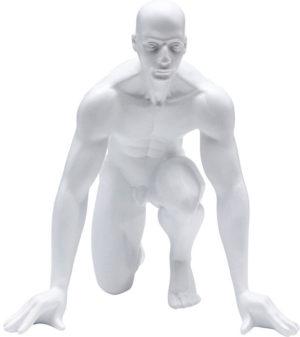 Beeld Figurine Runner White 25cm Kare Design Beeld 53459