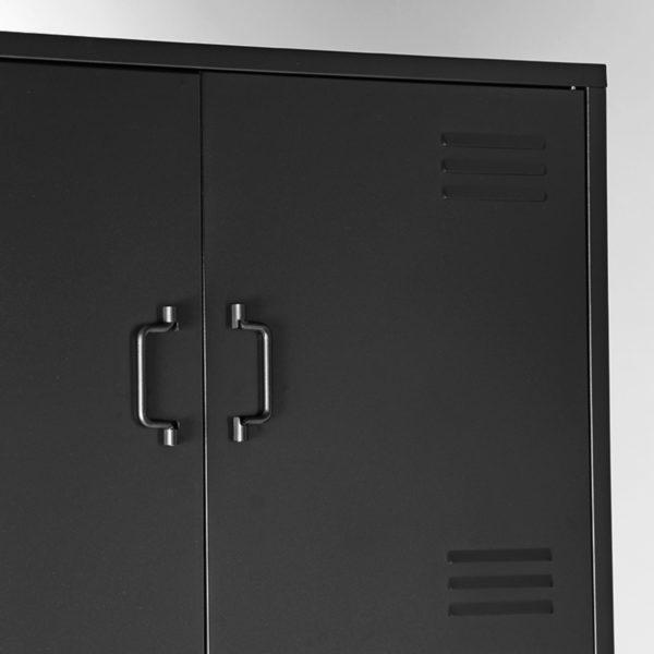 LABEL51 Bergkast Fence - Zwart - Metaal Zwart Bergkast