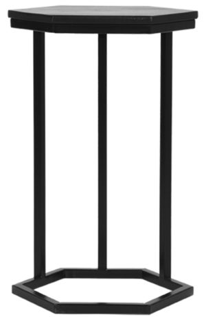 LABEL51 Bijzettafel Slide - Zwart - Mangohout Zwart Bijzettafel