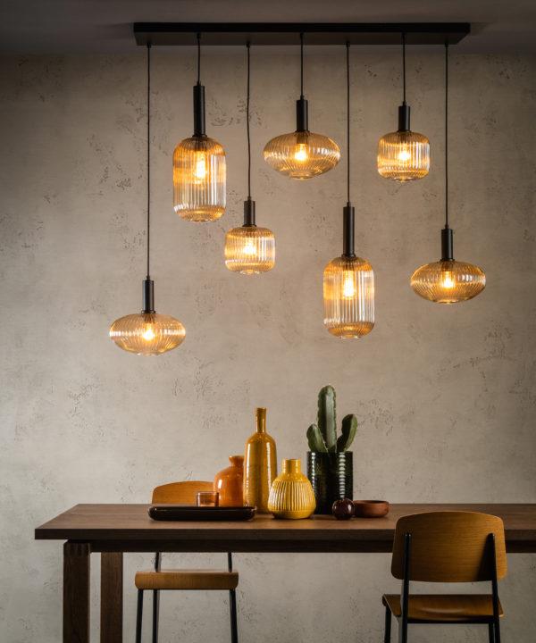 Maloto hanglamp - mat goud / messing Lucide Hanglamp 45386/07/62