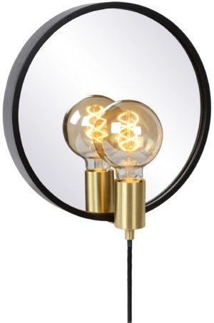 Reflex spiegellamp - zwart Lucide Wandlamp 36213/31/30
