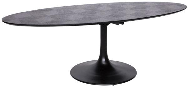 Richmond Interiors Eettafel Blax ovaal 250 (Black) Black Eettafel