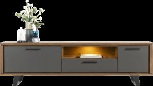 Henders & Hazel Cubo lowboard 210 cm. - 1-deur + 1-lade + 1-klep + 1-niche (+ LED) Tv-dressoir