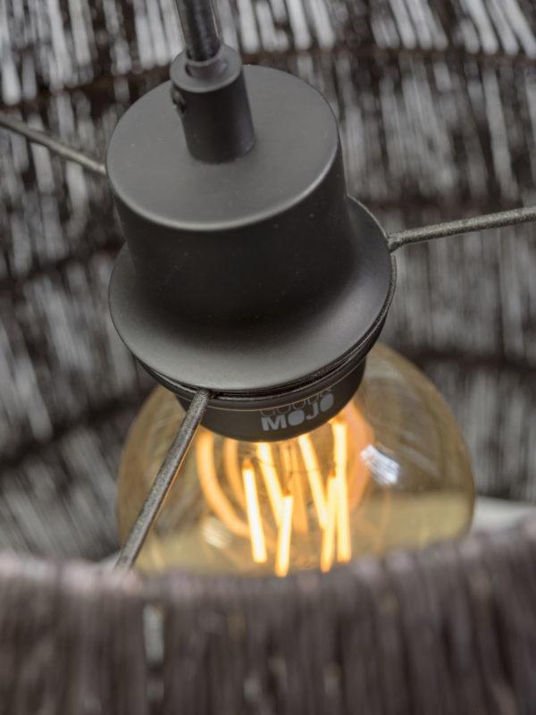 Hanglamp Iguazu jute taps dia.60x50cm, zwart it's about RoMi Hanglamp IGUAZU/H/6050/B