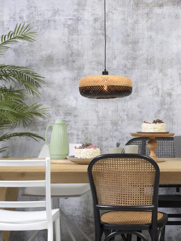 Hanglamp Palawan bamboe 40x15cm nat./zwart, S it's about RoMi Hanglamp PALAWAN/H/4015/BN