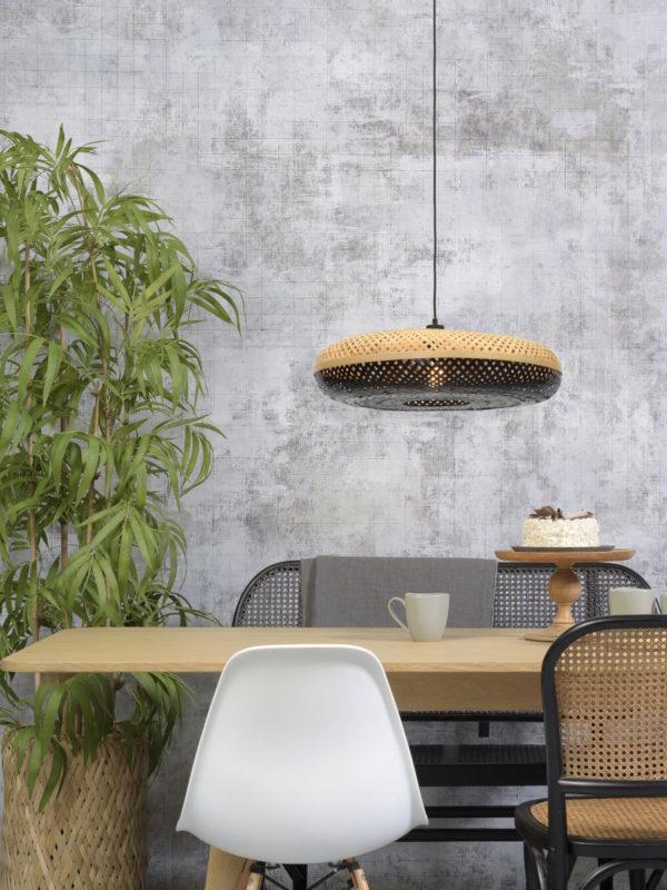 Hanglamp Palawan bamboe 60x15cm nat./zwart, L it's about RoMi Hanglamp PALAWAN/H/6015/BN