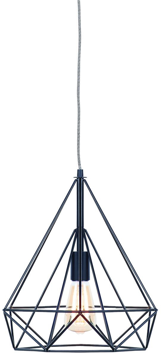 Hanglamp draadijzer Antwerp 38x34xh.40cm, zwart it's about RoMi Hanglamp ANTWERP/H/B