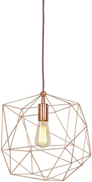 Hanglamp draadijzer Copenhagen dia.35xh.36cm, koper it's about RoMi Hanglamp COPENHAGEN/H35/CO