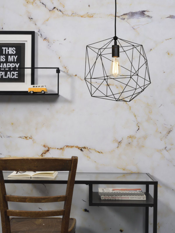 Hanglamp draadijzer Copenhagen dia.35xh.36cm, zwart it's about RoMi Hanglamp COPENHAGEN/H35/B