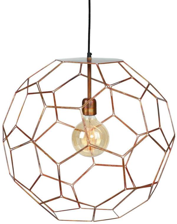 Hanglamp draadijzer Marrakesh dia.55xh.50m koper, L it's about RoMi Hanglamp MARRAKESH/H55/BCO