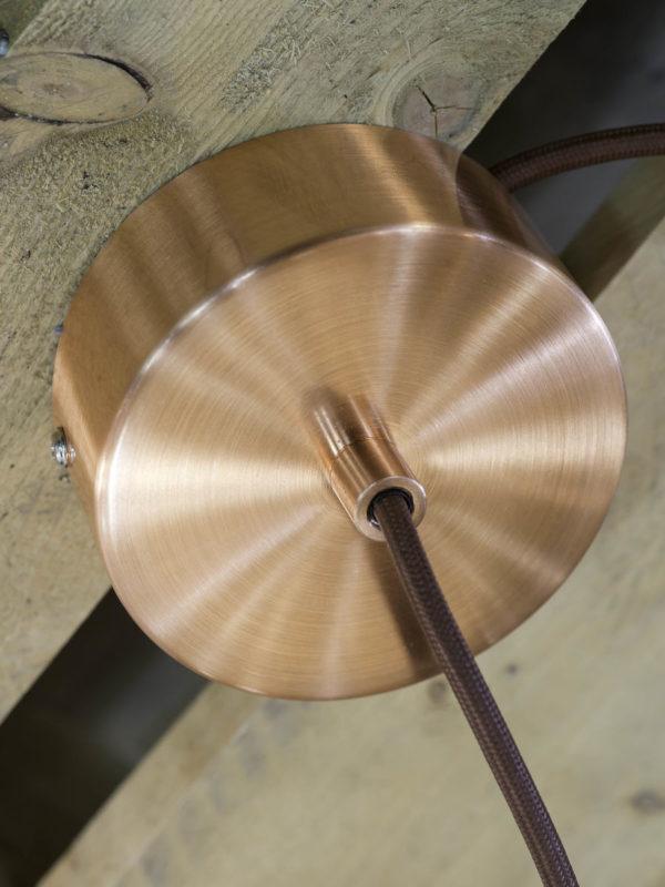 Hanglamp draadijzer Pittsburgh dia.20xh.26cm, koper it's about RoMi Hanglamp PITTSBURGH/H/CO