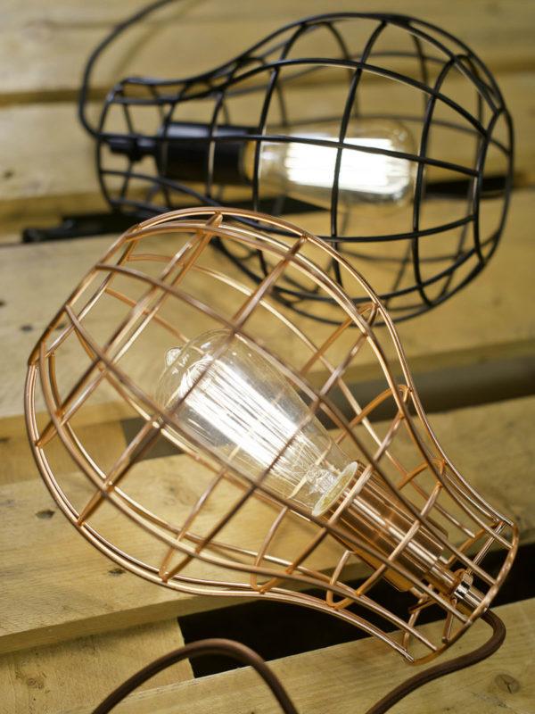 Hanglamp draadijzer Pittsburgh dia.20xh.26cm, zwart it's about RoMi Hanglamp PITTSBURGH/H/B