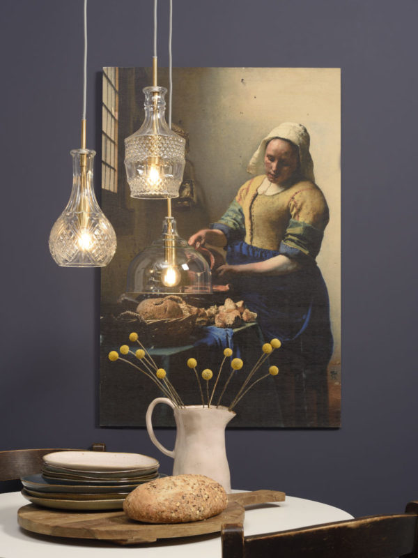 Hanglamp glas Brussels dia.20xh.22cm transparant/goud, rond it's about RoMi Hanglamp BRUSSELS/HR/C