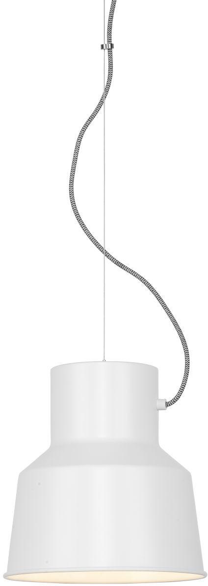 Hanglamp ijzer Belfast/kap rond dia.25xh.26cm, mat wit it's about RoMi Hanglamp BELFAST/H/W