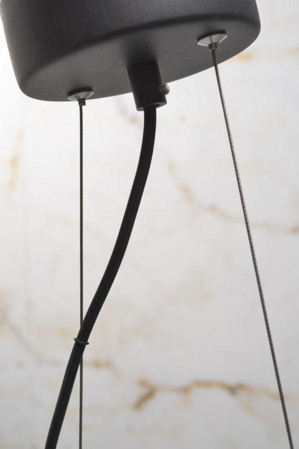 Hanglamp ijzer Biarritz 6-arm l.120xb.65cm verstelbaar, zwart it's about RoMi Hanglamp BIARRITZ/H6/B