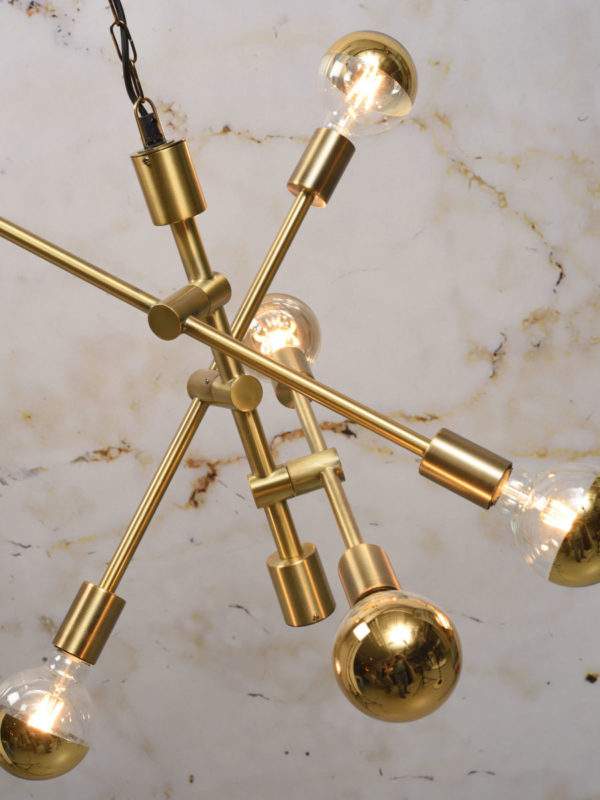Hanglamp ijzer Nashville 3-arm 60x52xh.48cm, goud it's about RoMi Hanglamp NASHVILLE/H6/GO