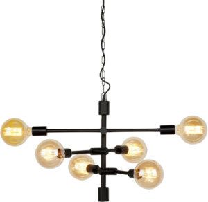 Hanglamp ijzer Nashville 3-arm 60x52xh.48cm, zwart it's about RoMi Hanglamp NASHVILLE/H6/B