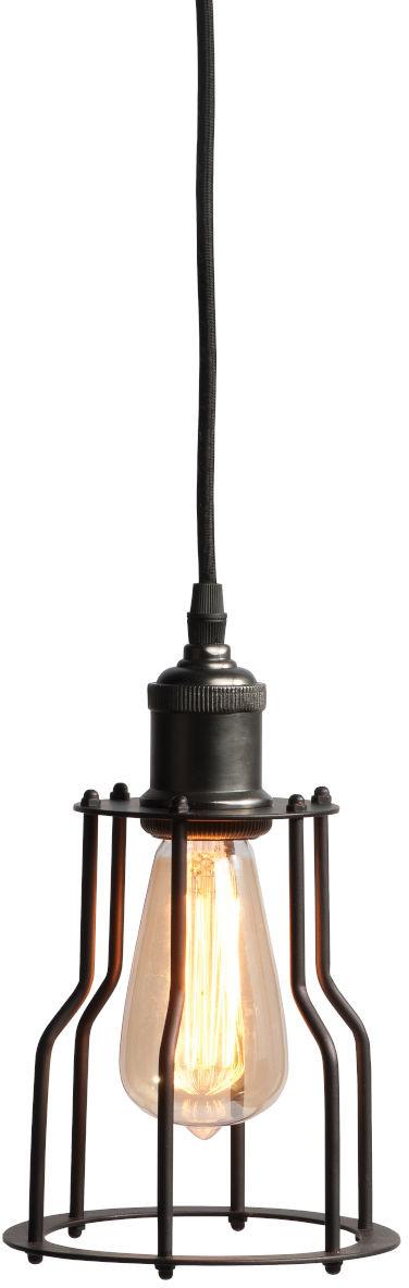 Hanglamp ijzer Riga dia.15xh.25cm, antiek zwart it's about RoMi Hanglamp RIGA/H/B