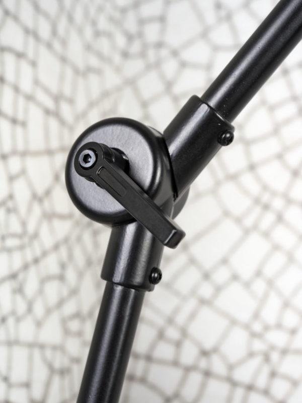 Kroonluchter ijzer/stof Amsterdam 5-arm h.120x120cm/kap 32x20cm, d.grijs it's about RoMi Kroonluchter AMSTERDAM/H5/B/3220/DG