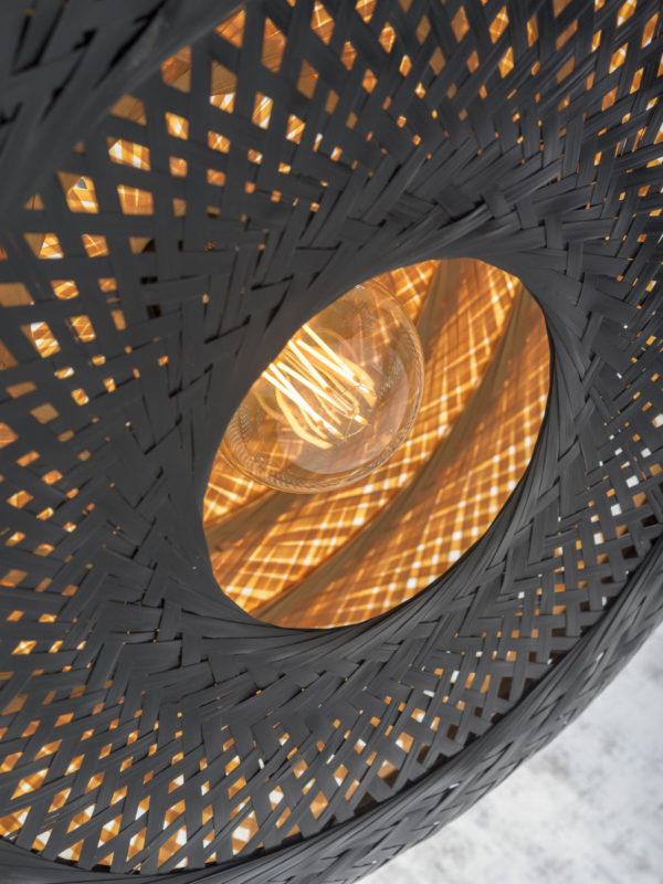 Plafonniere Palawan bamboe 60x15cm nat./zwart, L it's about RoMi Plafondlamp PALAWAN/C/6015/BN