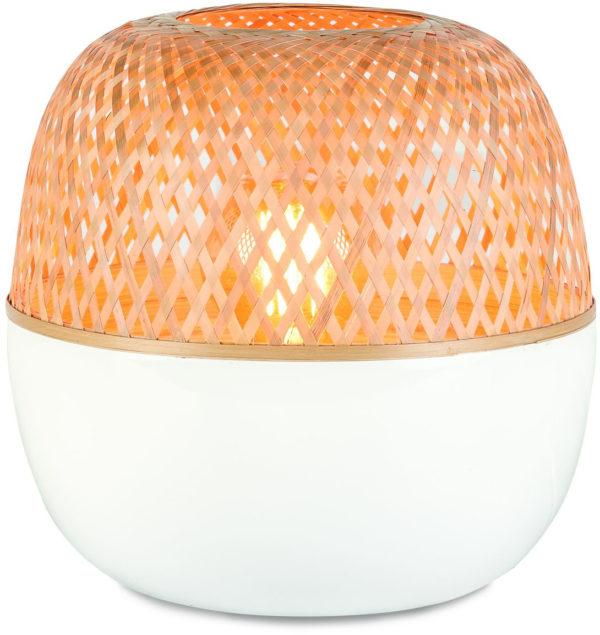 Tafellamp bamboe Mekong dia.30xh33cm wit/naturel, L it's about RoMi Tafellamp MEKONG/T32/W